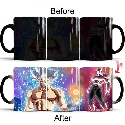 Dragon Ball Z Super Saiyan Goku vs Jiren 350ml coffee Mug Color Changing - ZSHOPIT