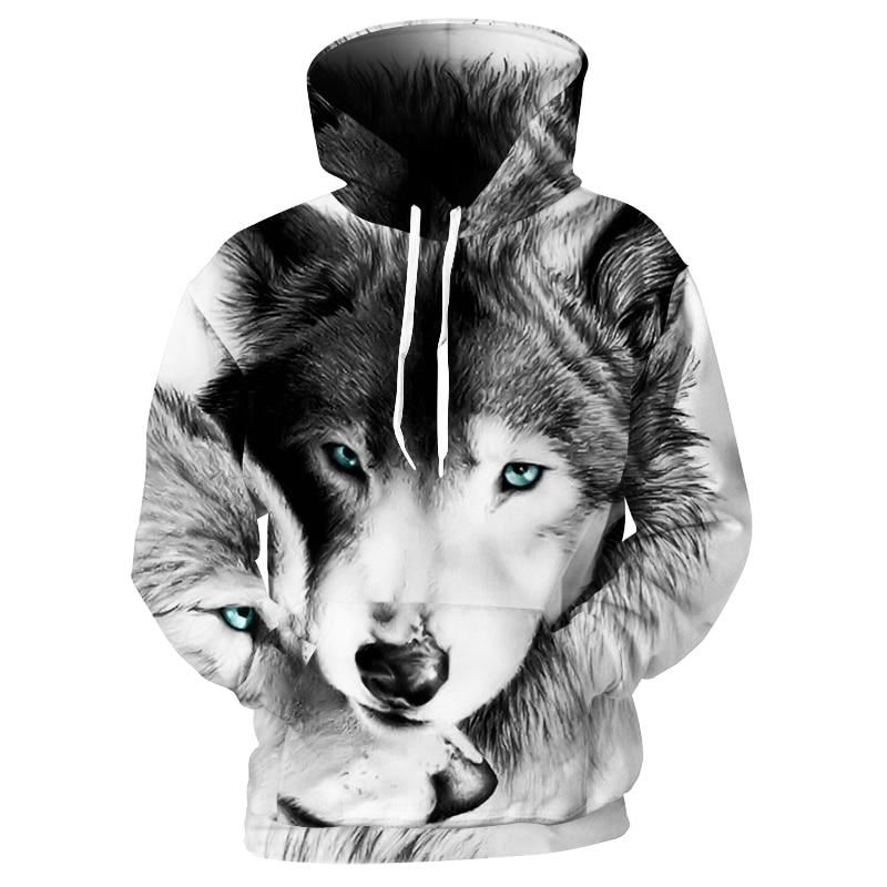 Animal Dog Husky Wolf Hoodie Winter Jacket - ZSHOPIT