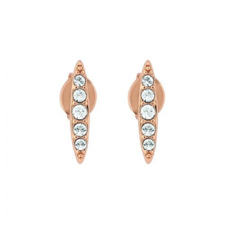 Pave Navette Stud Earrings Rose Gold