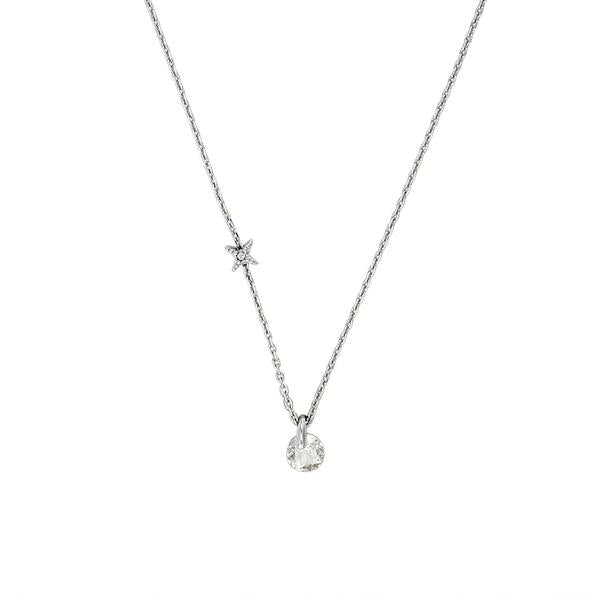 Simple Round CZ Necklace