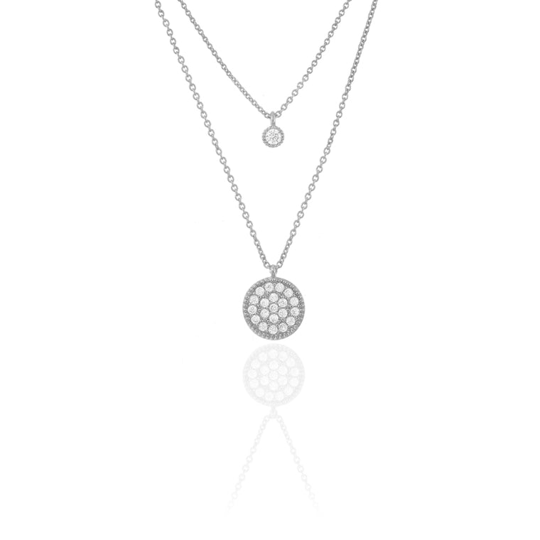 Duo Disc Chain Necklace