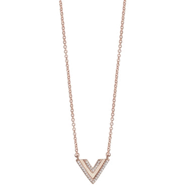 Linear Triangle Necklace