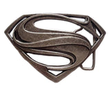 Superman Logo Metal Belt Buckle - DCMarvel.Store