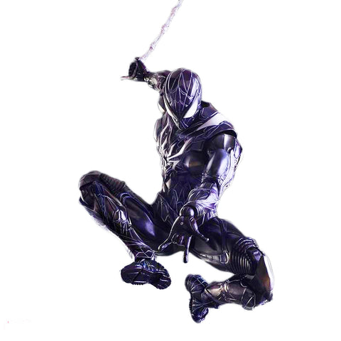 Black Spider-man Play Arts KAI Action Figure - DCMarvel.Store