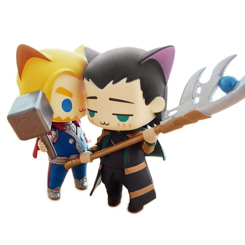 Thor vs Loki Cat Cute Version Figure Limited Edition 8.2cm - DCMarvel Store