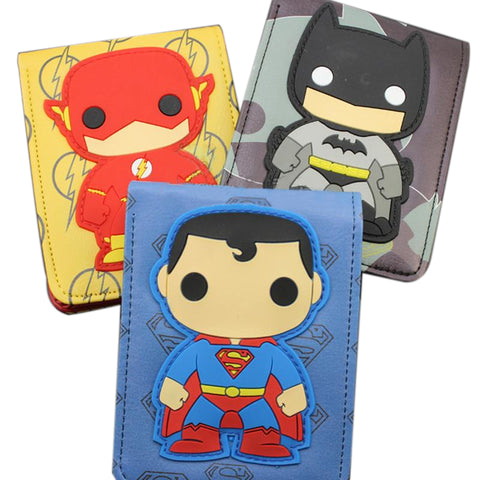 Dc Marvel Super Heroes 3D Cute Version Wallet - DCMarvel.Store