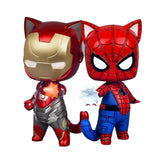 Spider-Man vs Iron Man Anime Cat Version Action Figures 8cm - DCMarvel Store