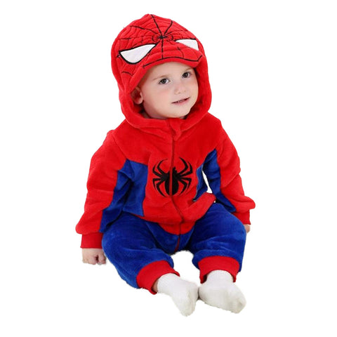 Spider Man Captain America Hoodie Onesies for Baby - DCMarvel.Store