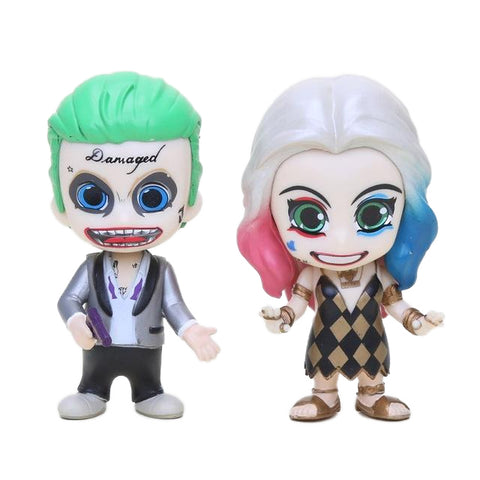 Suicide Squad Harley Quinn & The Joker Model Figure 10cm 2pcs/set - DCMarvel.Store