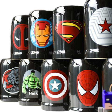 DC Marvel Super Hero Ceramic Mug With Spoon and Cover - DCMarvel.Store