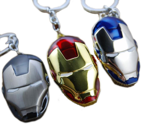 Iron Man Mask Metal Keychain - DCMarvel.Store