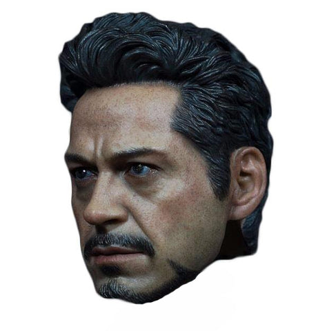 "1/6 Scale Iron Man Tony Stark Head sculpt Model Fit for 12"" Action Figure Men Bodies - DCMarvel Store"