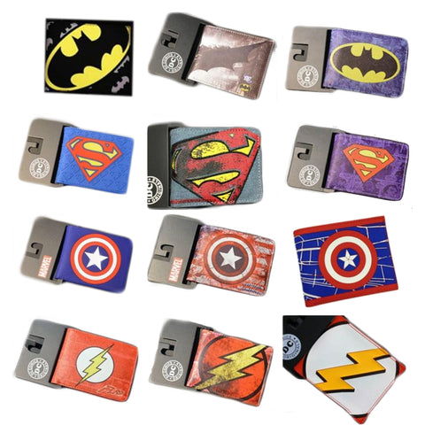 DC Marvel Super Heroes Logo Design Wallets Collection - DCMarvel.Store