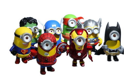 Minion Cosplay Super Heroes Limited Edition Figure 8pcs/set - DCMarvel.Store