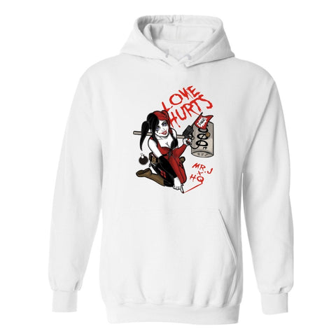Harley Quinn Gotham Girl Love Hurts Printing Hoodies for Men - DCMarvel.Store