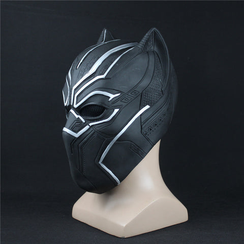Black Panther Cosplay Mask For Adults - DCMarvel.Store