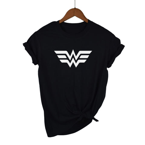 Wonder Woman Logo  T Shirt 100% Cotton - DCMarvel.Store