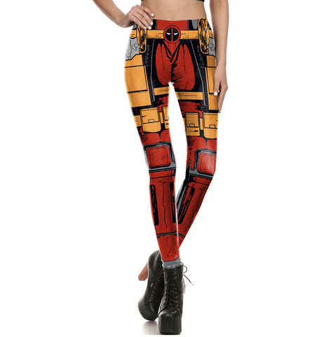 Super Hero Women legging Deadpool Harley Quinn - DCMarvel.Store