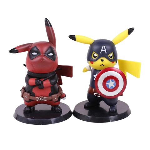 Pikachu Deadpool and Captain America Limited Edition Figure 10cm - DCMarvel.Store