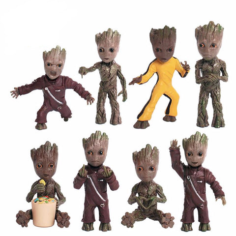 Mini Groot Guardians of the Galaxy Keychain 8cm - DCMarvel.Store