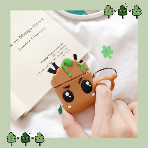 Marvel Groot Trees Baby Headphone Cases For Apple Airpods Cover - DCMarvel.Store