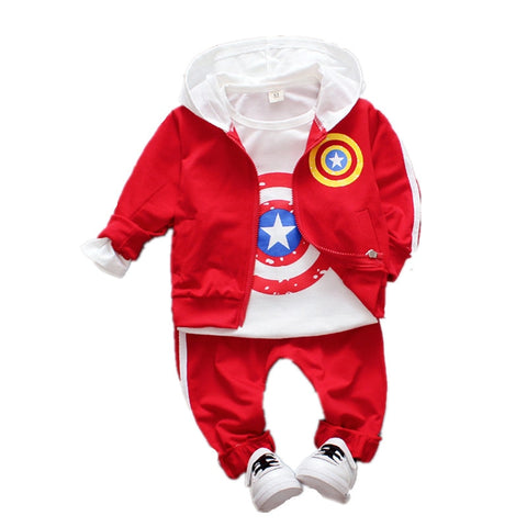 Captain America Hoodie Set For Baby - DCMarvel.Store