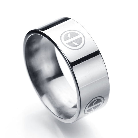 Deadpool Stainless Steel Band Ring - DCMarvel.Store