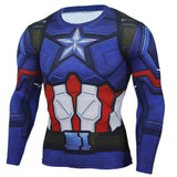 Civil War Super Heroes Long Sleeve Fitness T-shirt - DCMarvel.Store