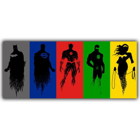 Justice League Poster Silk Canvas Fabric Print - DCMarvel Store