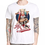 DC Comic Suicide squad Harley Quinn & The Joker Printing T-shirt - DCMarvel.Store