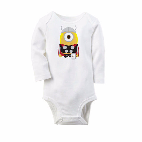 DC Marvel Super Heroes Onesies for Newborn Baby - Minion Edition - DCMarvel.Store
