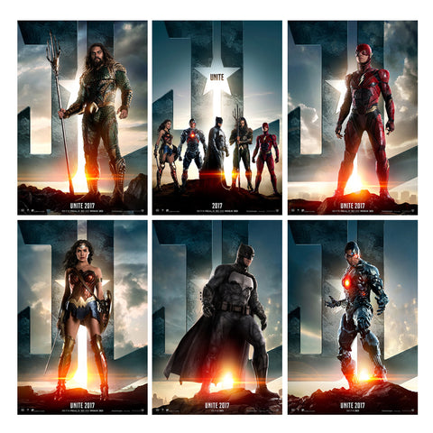 2017 Movie Justice League Poster Silk Printing - DCMarvel Store
