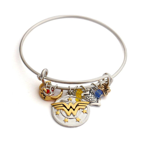"Wonder Woman ""I do freely and with Clear Conscience"" Charm Bracelet - DCMarvel Store"