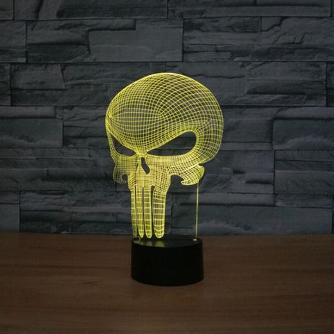 Punisher Skull 3D LED Light 7 colors Unique Decor - DCMarvel.Store