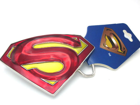 Superman 3D Logo Metal Belt Buckle - DCMarvel.Store