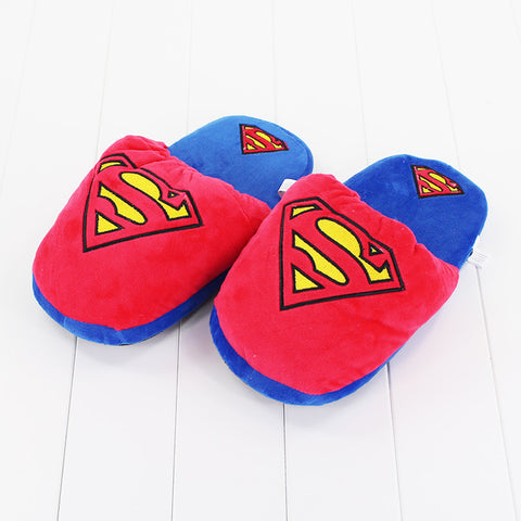 DC Marvel Superheroes Winter Plush Stuffed Home Slippers One Size 28cm - DCMarvel.Store