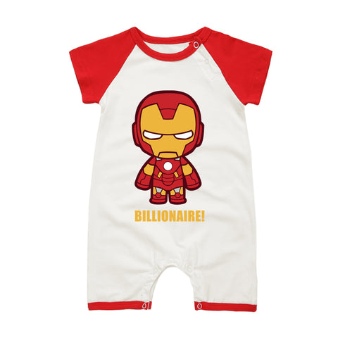 Marvel Super Hero Short Sleeve Onesies for Baby - DCMarvel.Store