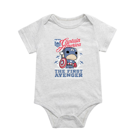 Captain America Cartoon Baby Cotton Jumpsuit - DCMarvel.Store