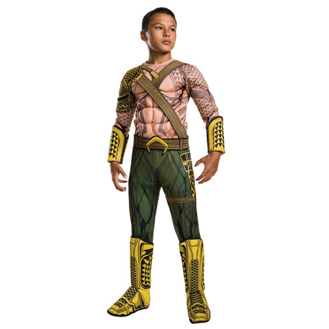 Justice League Aquaman Deluxe Muscle Cosplay Costume for Child - DCMarvel.Store