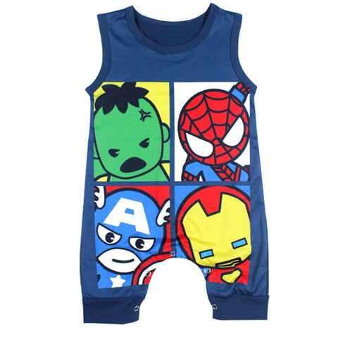 Marvel Super Heroes Onesies Sleeveless for Newborn Baby - DCMarvel.Store