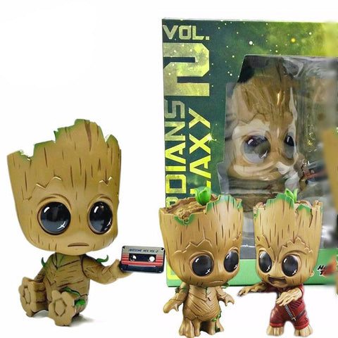 Baby Groot Cute Bobble Head Figure - DCMarvel.Store