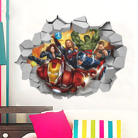 Marvel Avengers Wall Decal - DCMarvel.Store