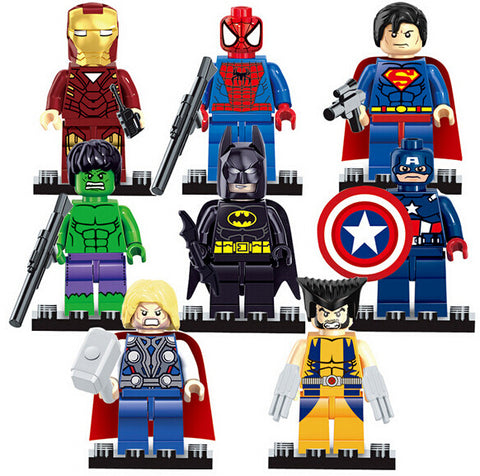 DC Marvel Super Heroes Blocks Bricks 8pcs/set - DCMarvel Store