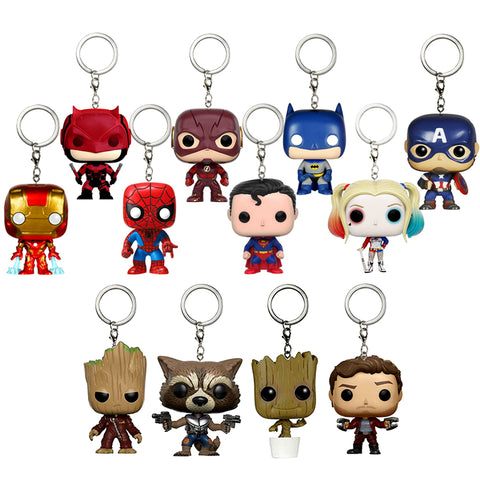 DC Marvel Super Heroes Cute Edition Keychain - DCMarvel.Store