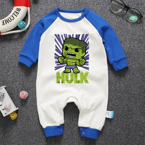 Hulk Onesies Long Sleeve For Newborn Baby - DCMarvel.Store