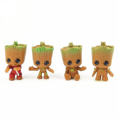 Cute Baby Groot Guardians Of The Galaxy 5cm Figure 4pcs/set - DCMarvel Store
