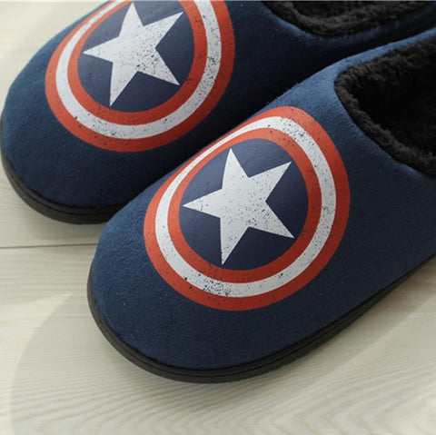 Captain America Winter Home Slippers - DCMarvel.Store