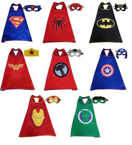DC Marvel Superheroes Cape & Mask Cosplay for Kids - DCMarvel Store