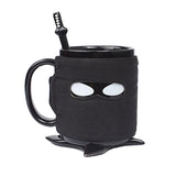 Ninja Mug with Spoon Sword and Shuriken Coaster - DCMarvel.Store