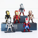 The Iron Man Mini Figures with LED Light 6pcs/set - DCMarvel.Store